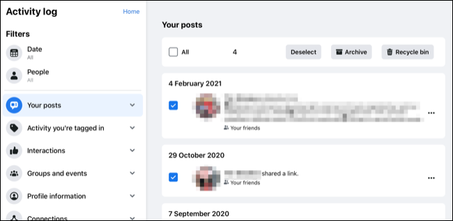 Archiving Posts En-Masse on Facebook.com