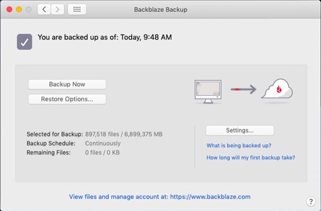 Backblaze for macOS