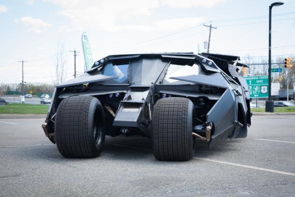 Batman's Batmobile Tumbler vehicle from the Dark Knight movie series