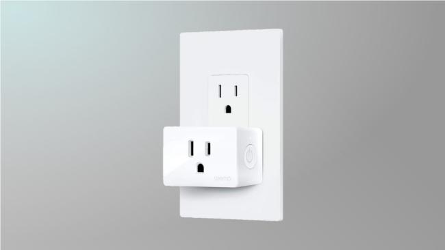 kasa plug on grey background
