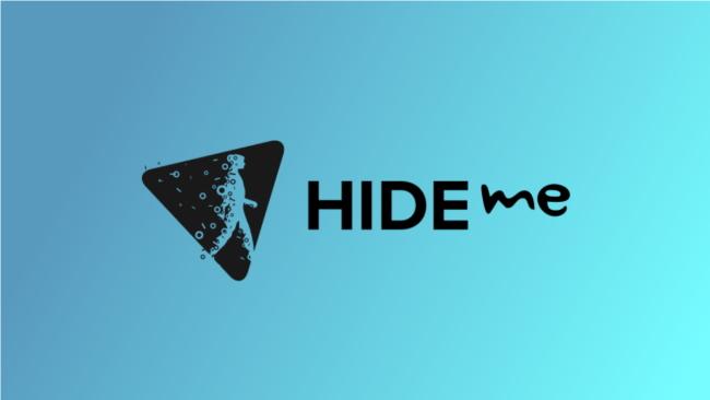 hide.me logo on blue background
