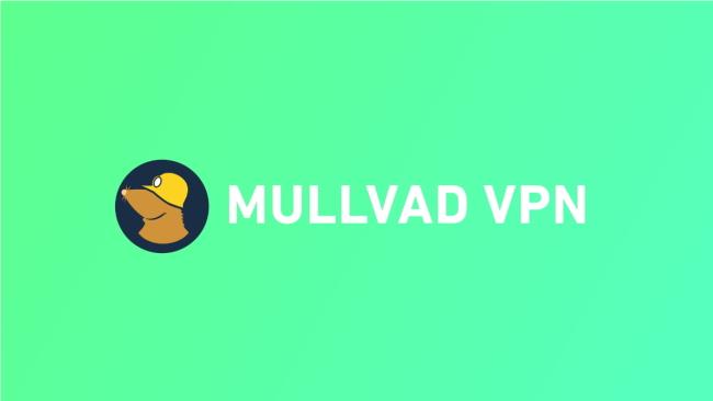 mullvad logo on green background