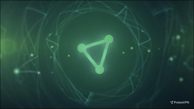 ProtonVPN logo on green background