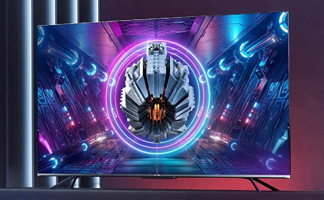 hisense u7g with futuristic image on tv