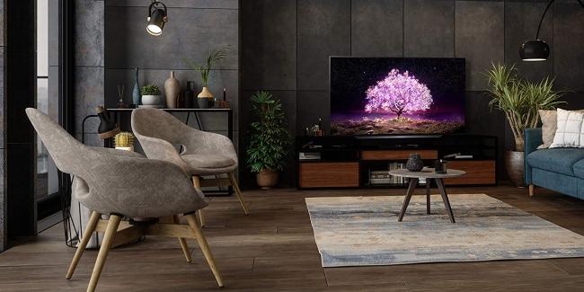 lg c1 in living room