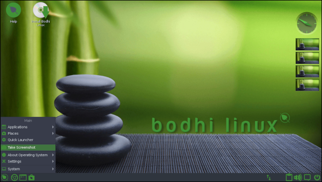 Bodhi Linux 6 desktop