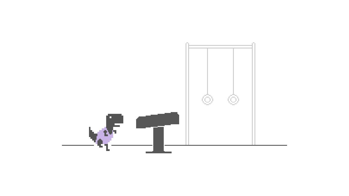 How to Play Google Chrome's Olympic Themed Dinosaur Game