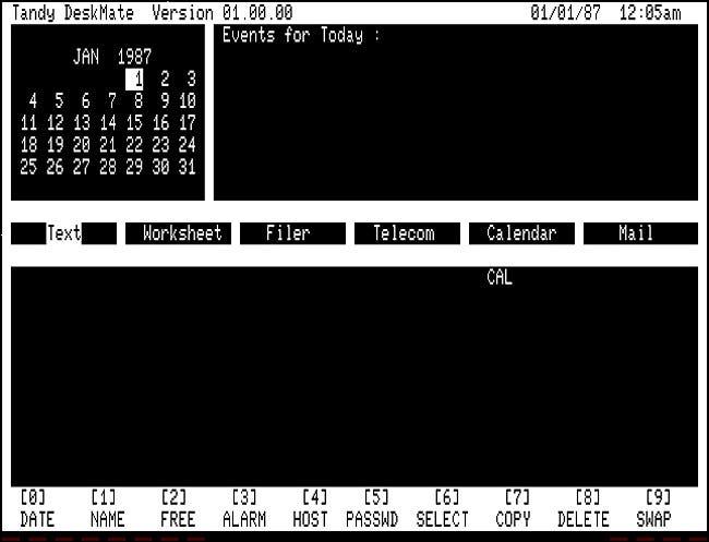 Tandy DeskMate 1.00 for TRS-80