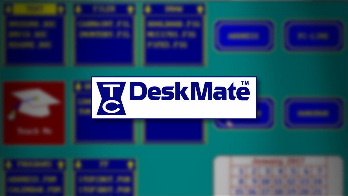 The Tandy DeskMate Logo