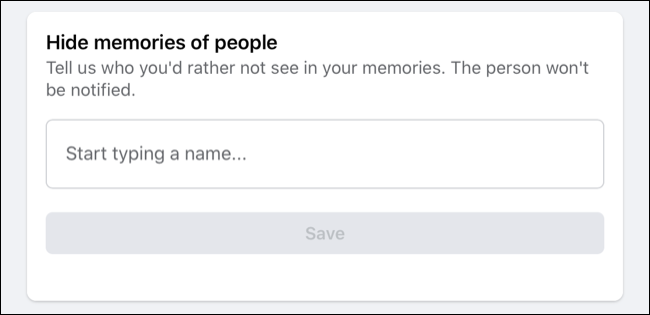 Hide People from Facebook Memories
