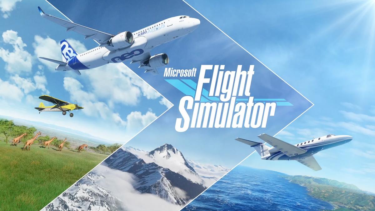 A Microsoft Flight Simulator promotional image
