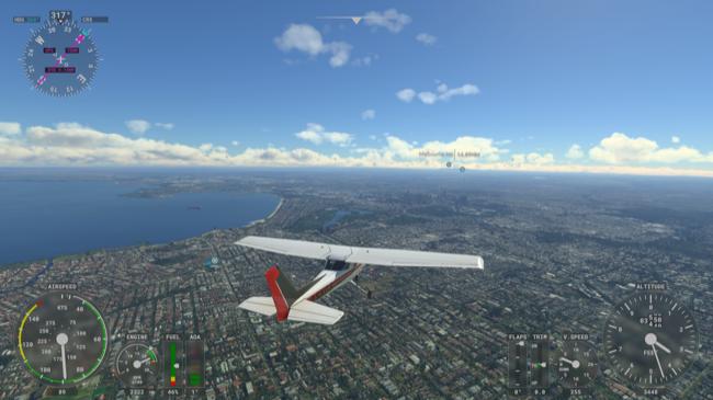 Microsoft Flight Simulator over Melbourne, Australia