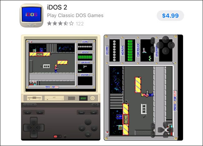 IDOS2 entry in the Apple App Store.
