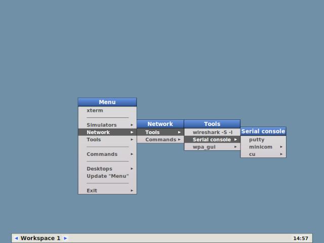 Live Razio desktop for network management
