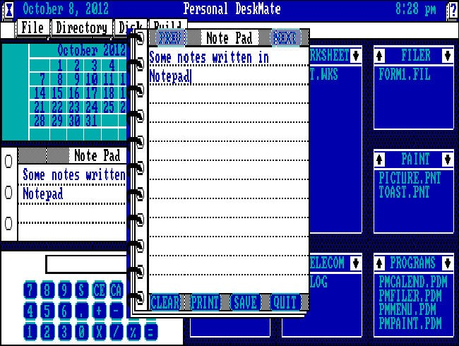Tandy Personal Deskmate 1 for PC