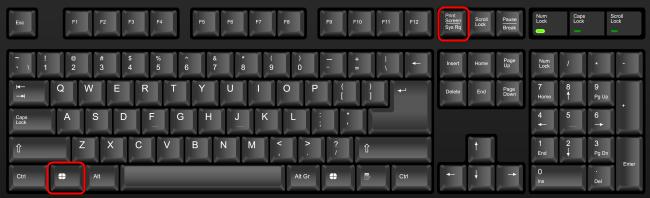 Press Windows + Print Screen on your keyboard.