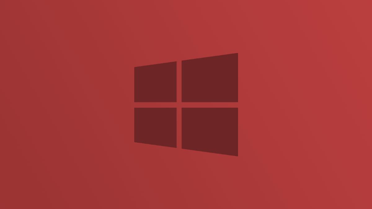 Windows 10 Logo in Red
