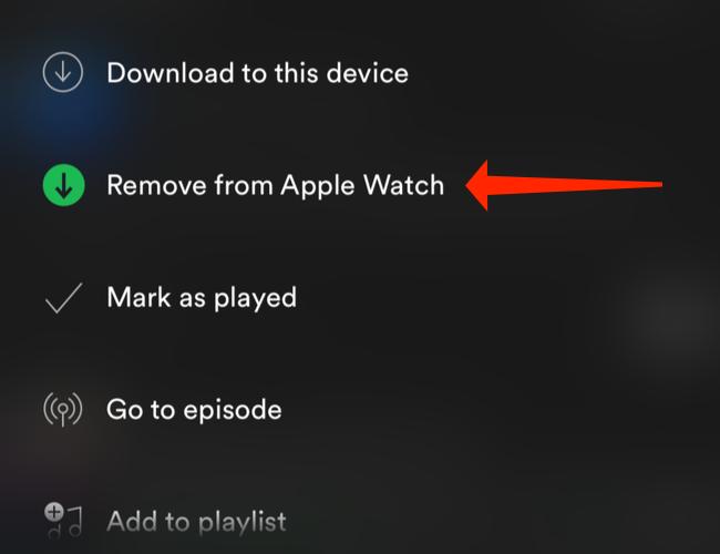 "Кран ""Удалить с Apple Watch"""