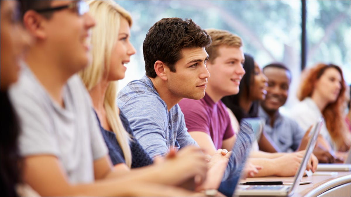 group of students in class