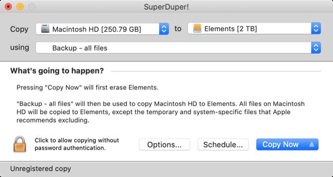 SuperDuper! Mac Backup Software