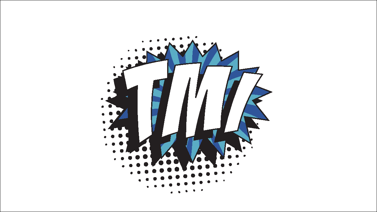 TMI initials in comic speech bubble style