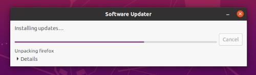 Ubuntu Software Updater installing package upgrades