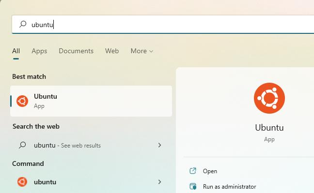 """Launch the """"Ubuntu"""" shortcut."""