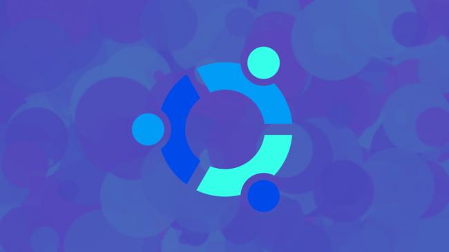 Ubuntu logo with inverted colors