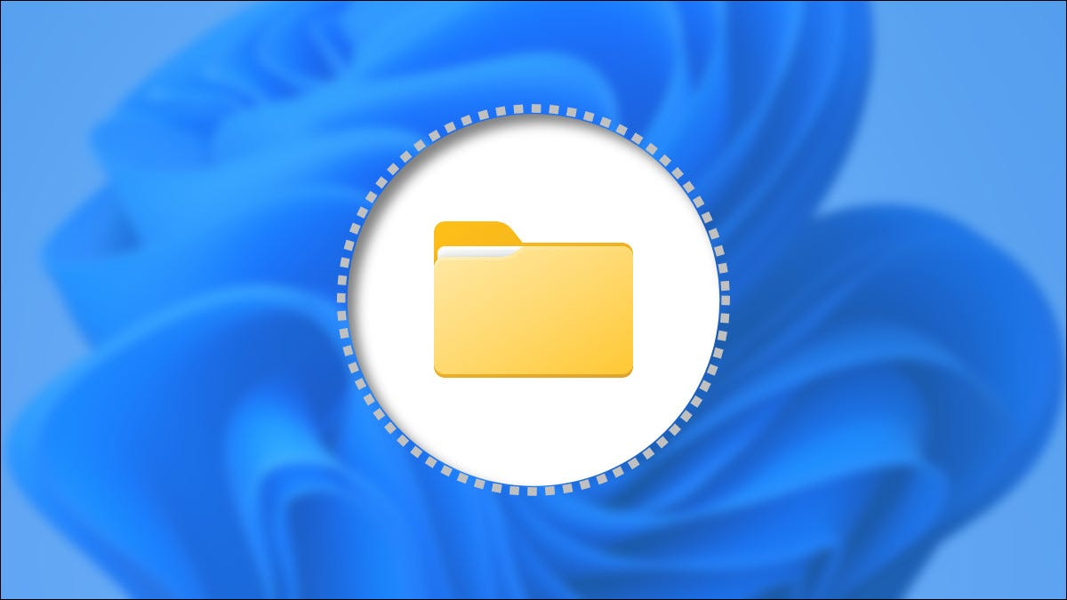 An illustration of a revealed, previously-hidden folder in Windows 11.