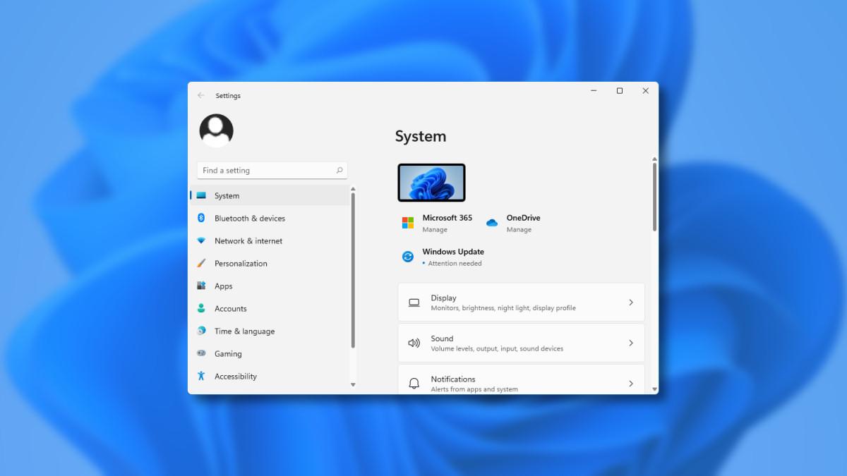 Here's What Windows 11's Settings App Looks Like