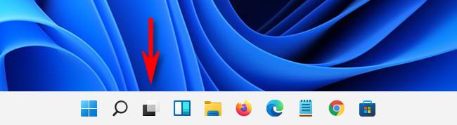 On the Windows 11 taskbar, click the Task View button.