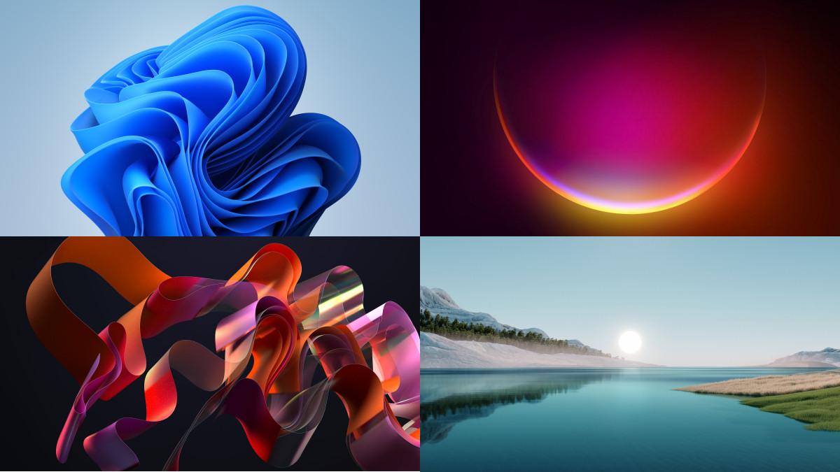 Quattro sfondi di esempio per Windows 11