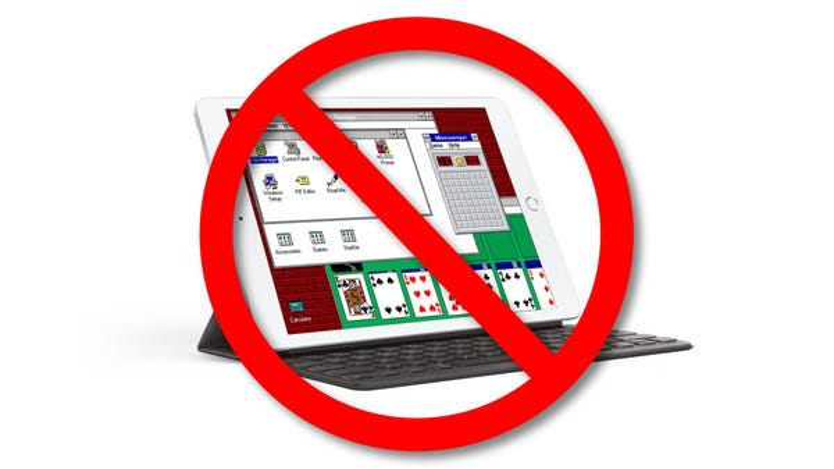 Apple Hates Fun, Says No More Windows 3.1 on iPads