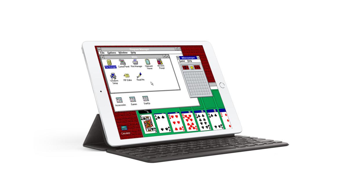 Windows 3.1 Running on an iPad
