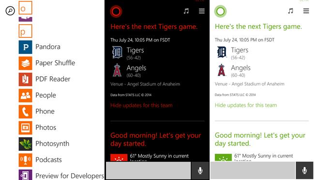 Các ứng dụng Windows Phone có màu sắc.