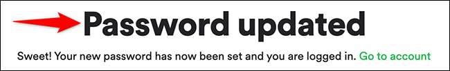Password reset on Spotify.
