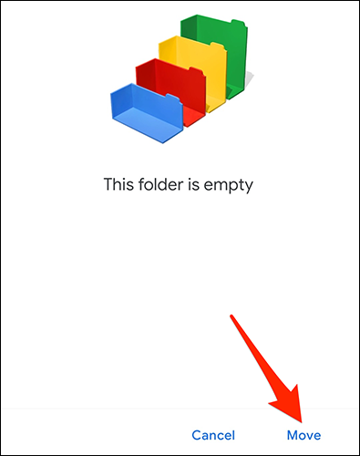 """Select """"Move"""" from the bottom-right corner of the Google Docs app."""
