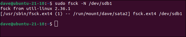 Before repairing a file system, do a dry run