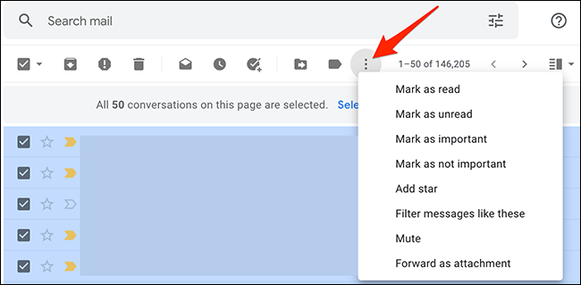 More actions to apply to emails on Gmail.