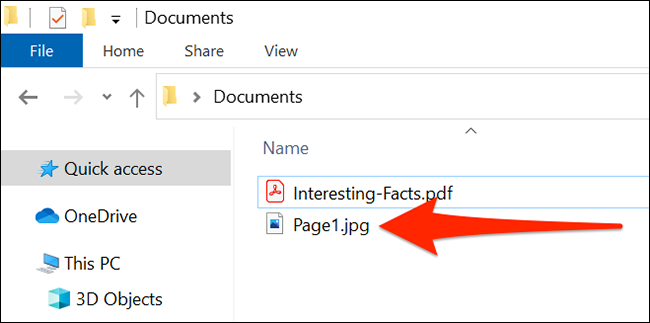 A PDF page converted to JPG in File Explorer.