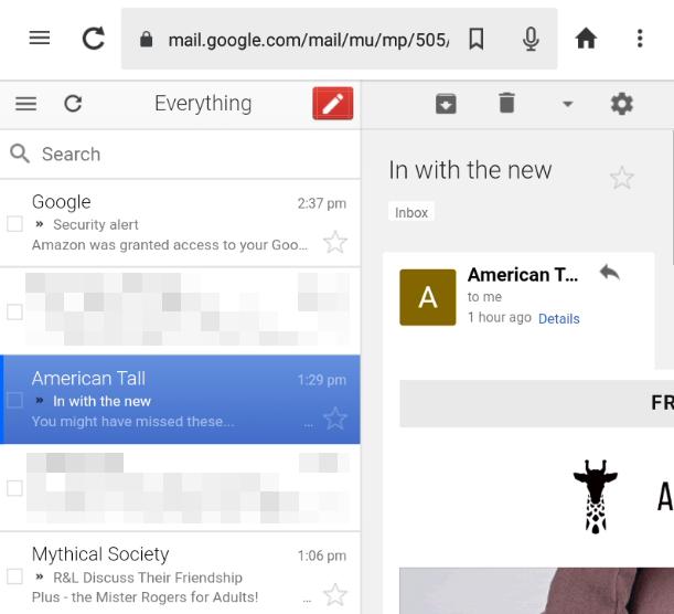 Gmail inbox.