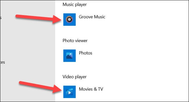 """Select """"Music Player"""" and """"Video Player."""""""