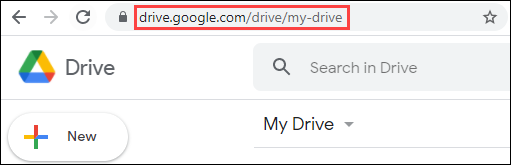 Go to the Google Drive website or app.