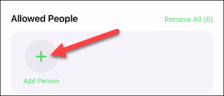 """Tap """"Add Person."""""""