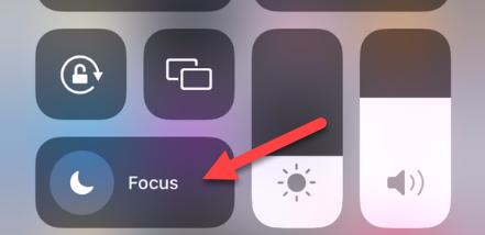 "Tap the ""Focus"" button."