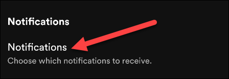 """Select """"Notifications."""""""