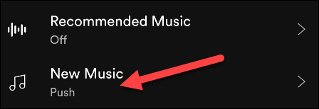 "Select ""New Music."""