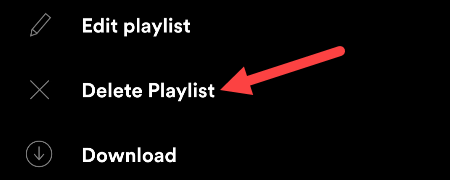"Select ""Delete Playlist."""