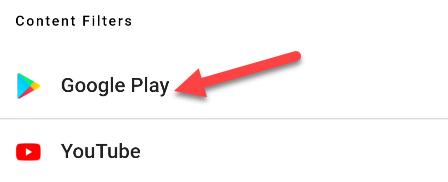 Google Play controls.