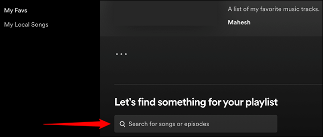 """Click """"Let's Find Something for Your Playlist"""" in Spotify."""